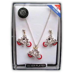 Typisch Hollands Jewelery gift set - Bicycles - Red