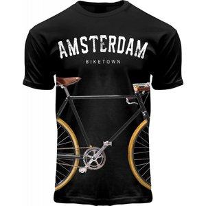 Holland fashion T-Shirt Amsterdam - Biketown - Fietsprint