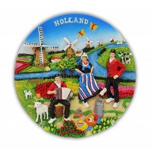 Typisch Hollands Holland - Wandteller - Vollfarbe 13cm