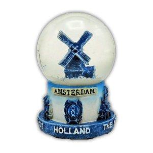 Typisch Hollands Sneeuwbol Delfts blauw- Molen Klein