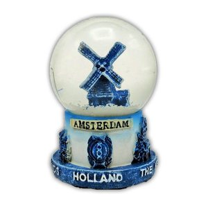 Typisch Hollands Snow globe Delft blue Windmill Small