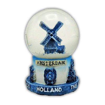 Typisch Hollands Snow globe Delft Blue Mill Small