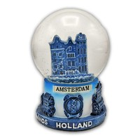 Typisch Hollands Snow globe with gable houses - Delft medium size