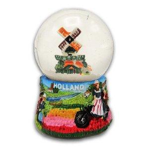 Typisch Hollands Sneeuwbol Holland - Molen - Boerin - Oud Hollands