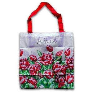 Typisch Hollands Tas - Opvouwbaar  - Tulpen - Rood