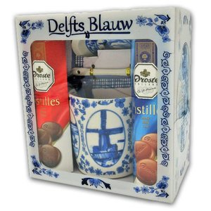 www.typisch-hollands-geschenkpakket.nl Droste Giftbox - Holland - Delftware