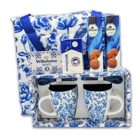 Droste Dutch gift package - Delft blue - with carrying bag.