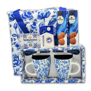 Droste Dutch gift package - Delft Blue with carrying bag.