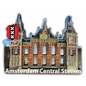 Typisch Hollands Magneet 3D Centraal Station - Amsterdam