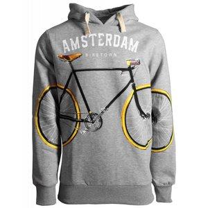 Holland fashion Hoodie - Amsterdam - Grijs Fietsen