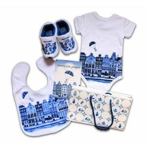www.typisch-hollands-geschenkpakket.nl Baby geschenkenpakket - Holland - Jongen