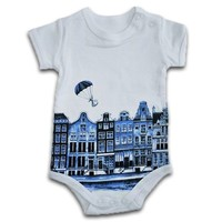 Typisch Hollands Rompertje Delfts blauw 0-3 maanden