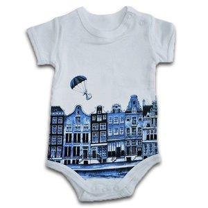 Typisch Hollands Spielanzug Delfter Blau 0-3 Monate