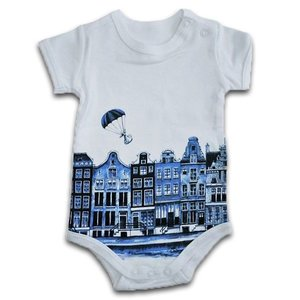 Typisch Hollands Strampler Delft blau 0-3 Monate