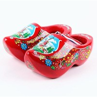 Typisch Hollands Red Souvenir wooden shoes 14 cm