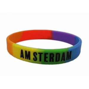 Typisch Hollands Rubber Armbandje - Multikleur- Amsterdam.