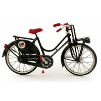 Typisch Hollands Fahrrad schwarz - Classic - Amsterdam-Holland - (Fahrradträger)