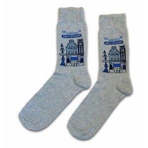 Typisch Hollands Sokken Delfts blauwe huisjes  maat 40-46