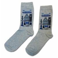 Holland sokken Socken Delfter Blau beherbergt die Größe 35-41