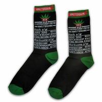 Typisch Hollands Men's Socks & Coffeeshop Menu