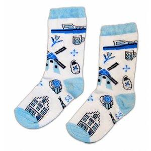 Holland sokken Kindersokken - Holland - Delfts.  ( 5-6 jaar)