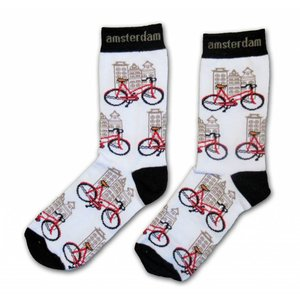 Typisch Hollands Ladies Socks - Bicycles - Gable houses