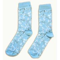Typisch Hollands Men's socks Vincent van Gogh blossom light blue