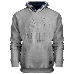 FOX Originals Hoodie - Amsterdam - Gray Emsossed - 3D Bike