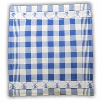 Typisch Hollands Tea towel - Blue checkered
