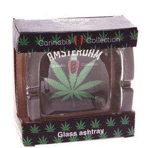 Typisch Hollands Aschenbecher Glas Canna grün Amsterdam
