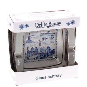 Typisch Hollands Aschenbecher Glas Delft Blue