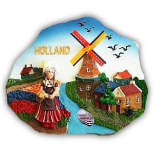 Typisch Hollands Magneet polystone Holland - Scene