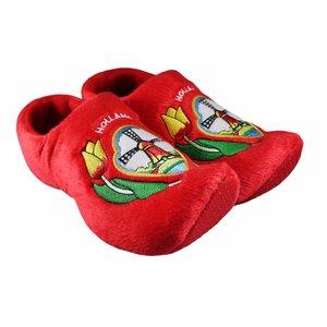 Typisch Hollands Clog Pantoffeln Rot - Mühlen-Tulpen