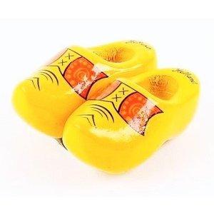 Typisch Hollands Magnet - Clogs - Yellow - Boerenbies