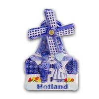 Typisch Hollands Magnet Mühle Delft Blue