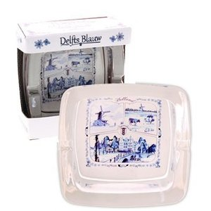Typisch Hollands Ashtray glass Delft Blue