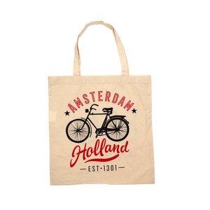 Typisch Hollands Tas Baumwolle Holland - Amsterdam - Fahrrad