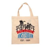 Typisch Hollands Tas katoen  Amsterdam - Fiets - Brug