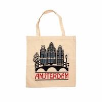 Typisch Hollands Cotton bag Amsterdam - Facade houses