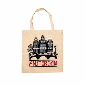 Typisch Hollands Tas katoen  Amsterdam - Gevelhuisjes