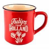 Typisch Hollands Retro Campusmok  Groot -Tulpen - Rood