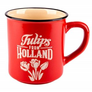 Typisch Hollands Retro Campus Mug Large - Tulip - Red