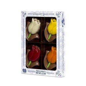 Typisch Hollands Chocolade Tulpen - Mini Box 60 Gram