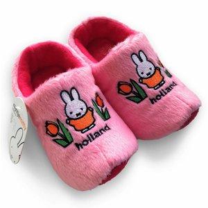 Typisch Hollands Klettern Hausschuhe Miffy mit Tulpen - Pink