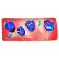 Typisch Hollands Luxe Damesjaal - Tulpen  - Viscose - Roze