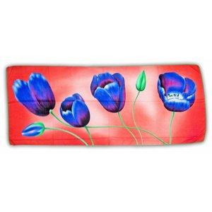 Luxe Damesjaal - Tulpen  - Viscose - Roze