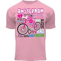 FOX Originals Children's T-Shirt - Amsterdam bicycle - Pink