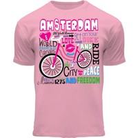 FOX Originals Kinder T-Shirt - Amsterdam  fiets- Roze