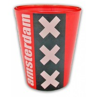 Shot glass Amsterdam- Red- Black - White