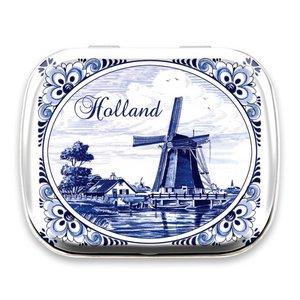Typisch Hollands Mint blikje Delfts blauw - Holland